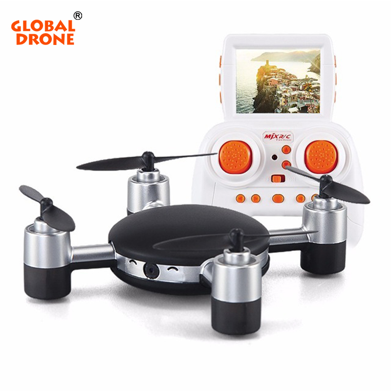 Global Drone X906T Mini Drone Professional FPV Drone Headless Mode 2.4G 4CH 6-axis Gyro RC Drone with 3D-flip with Camera HD