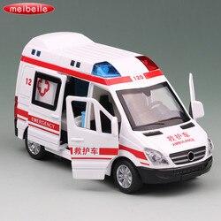 Развивающие отступить игрушечный автомобиль 1:36 сплава литья под давлением скорой помощи спасения модель автомобиля свет и звуки Для детей ...