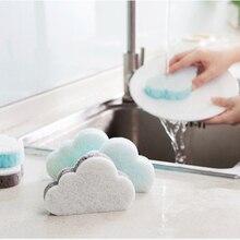 Sponge-Scrubber Cleaning-Pad Dishwashing-Sponge Home-Supplies Kitchen Cute for 1pc Cloud-Shape