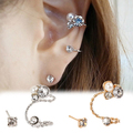 1 Pc Multi-purpose Lady's Elegant Pearl Rhinestone Clip Earrings Fashion Jewelry 991H