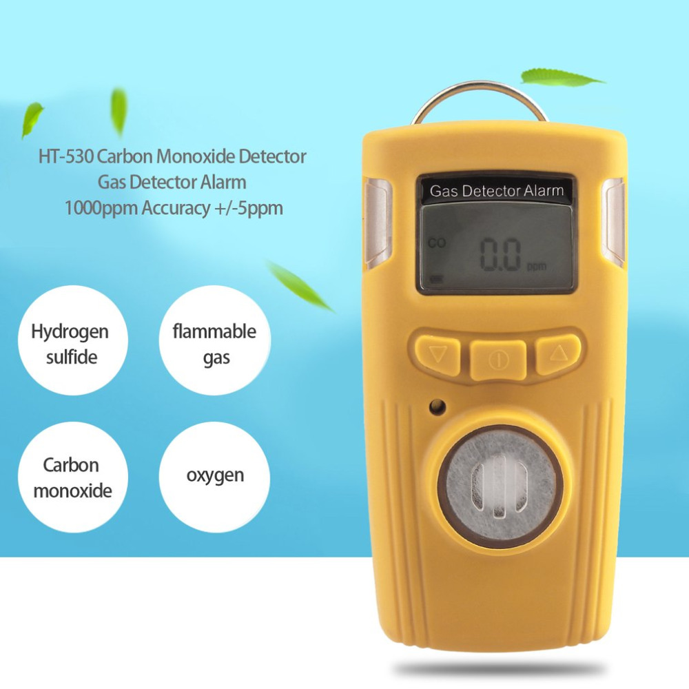 Gas Analyzers HT-530 Carbon Monoxide Detector Gas Detector Alarm 1000ppm Accuracy +/-5ppm digital gas analyzers lcd co gas detector carbon monoxide measurement alarm detector 0 2000ppm