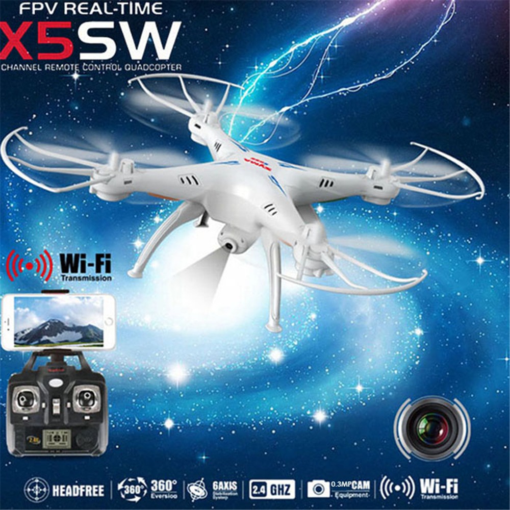 Original SYMA X5SW RC Drone con WiFi LCD transmisión FPV helicópteros quadcopter (X5C actualización) 0.3MP cámara HD Dron 4CH RC Juguetes