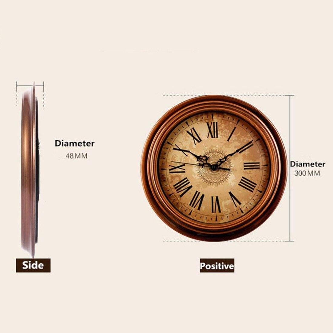 12 Inch Silent Non Ticking Round Wall Clocks Decorative