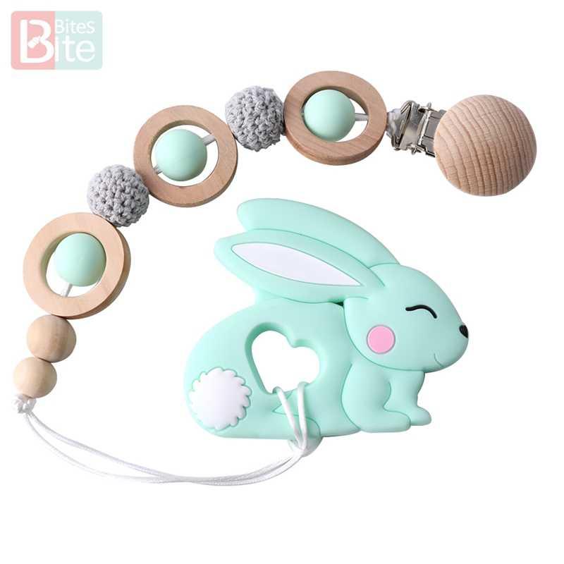 Укусы 1 шт. детские товары силиконовый для детей для прорезывания зубов кролик Прорезыватель Пищевая силиконовая продукция для малышей кролик BPA Бесплатный Детский Прорезыватель