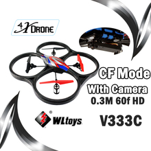 Hot Sell WLToys RC big Drone V333&V333C helicopter With HD 60F HD Camera 2.4Ghz RC Quadcopter With CF Headless Mode vs V666 V262