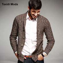 Autumn Mens Fashion Sweaters 100% Cotton Knitted Cardigan Knitting Brand Clothing Man's Knitwear Clothes Sweatercoats