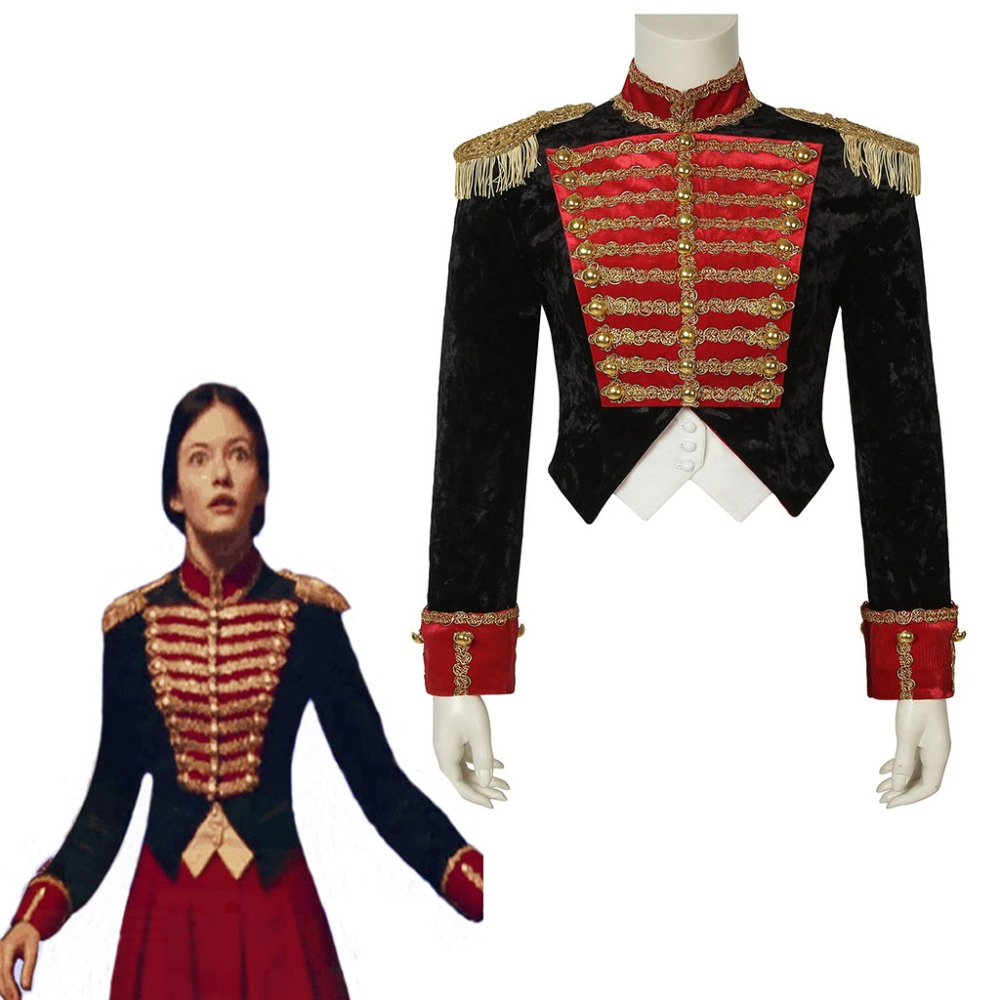 Cosplaydiy 2018 The Nutcracker And The Four Realms Clara Cosplay Costume Top Jacket Clara Princess Soldiers Coat Any Size L320