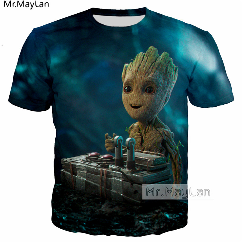 Guardians Of The Galaxy Cute Rocket Racoon Baby Groot 3d