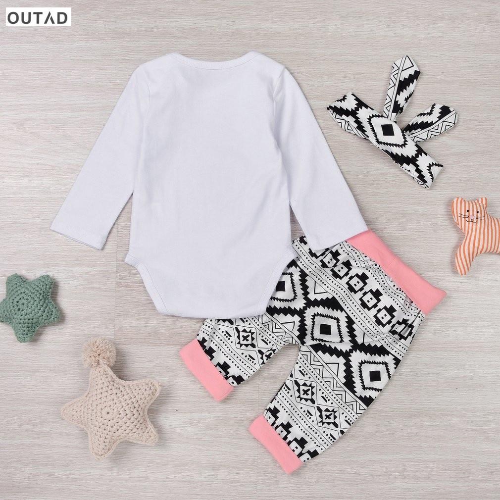 Newborn Elephant Print Autumn Clothes set Baby Boy Girl Little Elephant Romper+ Pant +Heaband Outfits Set Outwear