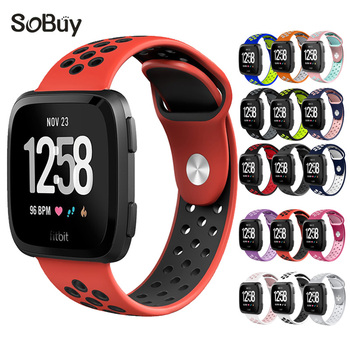 Lxsmart for fitbit versa sport Silicone band strap nike cozy bracelet versa movement wrist band fitbit watchband S rubber strap fitbit watch