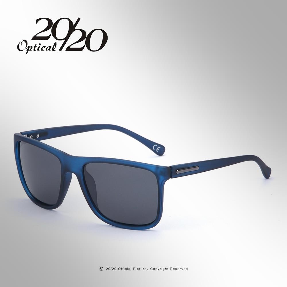 20/20 Brand Polarized sunglasses Men UV400 Classic Male Square Glasses Driving Travel Eyewear Gafas Oculos PL243