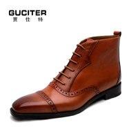 Goodyear мужские ботинки ручная работа обувь из натуральной кожи ручная роспись изготовление под заказ обувь высокие для сапоги