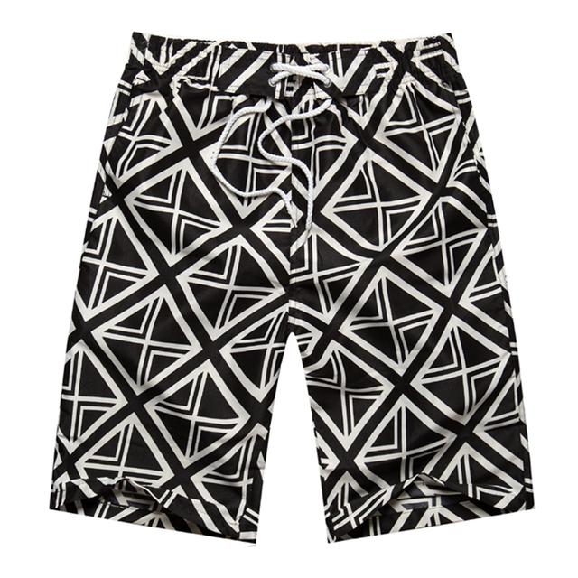 Summer 2017 Beach Shorts For Her & Him Flower Plaid Striped Shorts