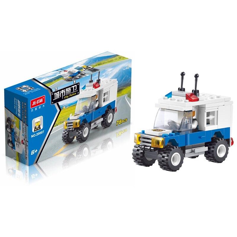 78PCS Enlighten City Series Police Swat Car Building Block sets Kids Educational Bricks blockset Toys Compatible With Brand