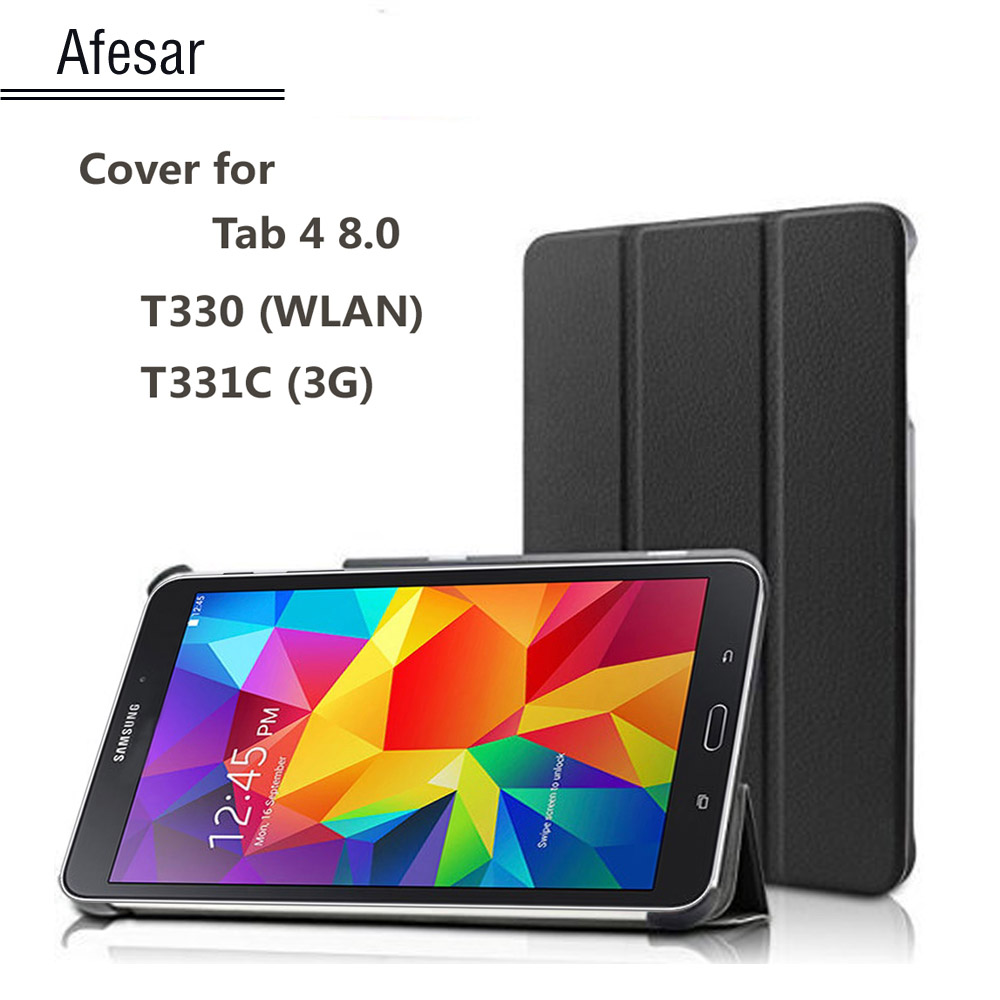 Tab 4 8.0 Case cover Ultra Slim Lightweight Smart-shell Cover Case Stand for samsung galaxy tab 4 8.0 sm-T330 T331c cover case ultra thin slim magnetic luxury folio stand leather case sleep smart sleeve cover for samsung galaxy tab pro s w700 sm w700 12