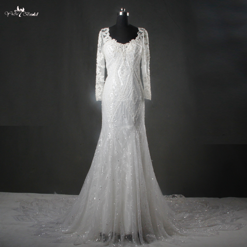 Detail Feedback Questions about RSW1115 Yiaibridal Real Picture Long Sleeve  Mermaid Wedding Dresses 2017 on Aliexpress.com  8cc0f739a28c
