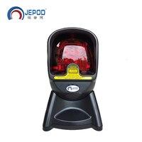 JP-OM3 Automatische Omnidirectionele Laser Barcode Scanner 24 Lijn Bar Code Reader Hand-gratis Stand USB Top Kwaliteit