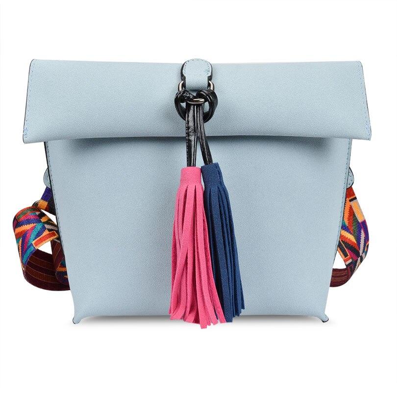 Antbook Fashion Ladys Bag Pu Leather Tassel Women Messenger Bag Solid Shoulder Bag Designer High Quality Summer Women Handbags