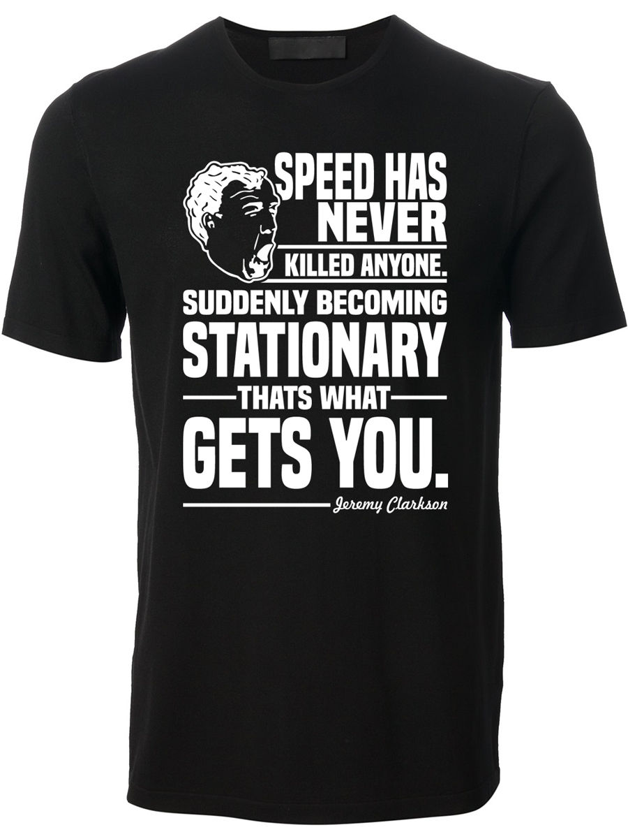 New 2018 Fashion Hot MenS High Quality Tees Turbo Speed Jeremy Clarkson Grand Tour Top Gear Gift for Him T shirt printing