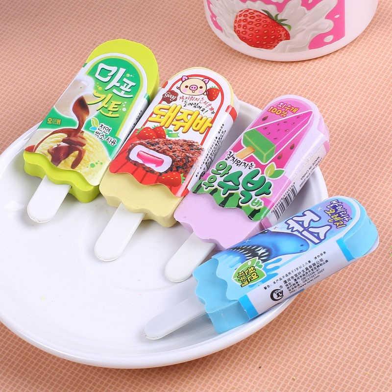 DL 1 sztuk SY14 cartoon gumka lody kreatywny piękne gumowe uczeń nagrody koreański biurowe uczenia się przybory szkolne dla dzieci