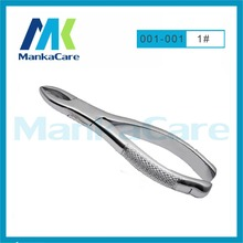 MKTF1001-Surgical Dental Orthodontic Stainless Steel Hemostatic Tooth Forceps Plier Medical Lab Free shipping Dental toos