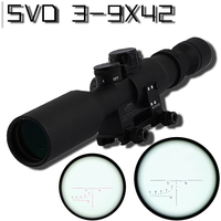 Sniper Tactical SVD 3 9X42 Hunting Rifle Scopes Optics Sight Hunting scope red dot light 11mm/20mm wave rail base riflescope