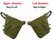 Tactical Concealed Pistol Gun Bag Men Sport Chest Shoulder Bag Hunting Storage Gun Pouch Right / Left Shoulder Bag