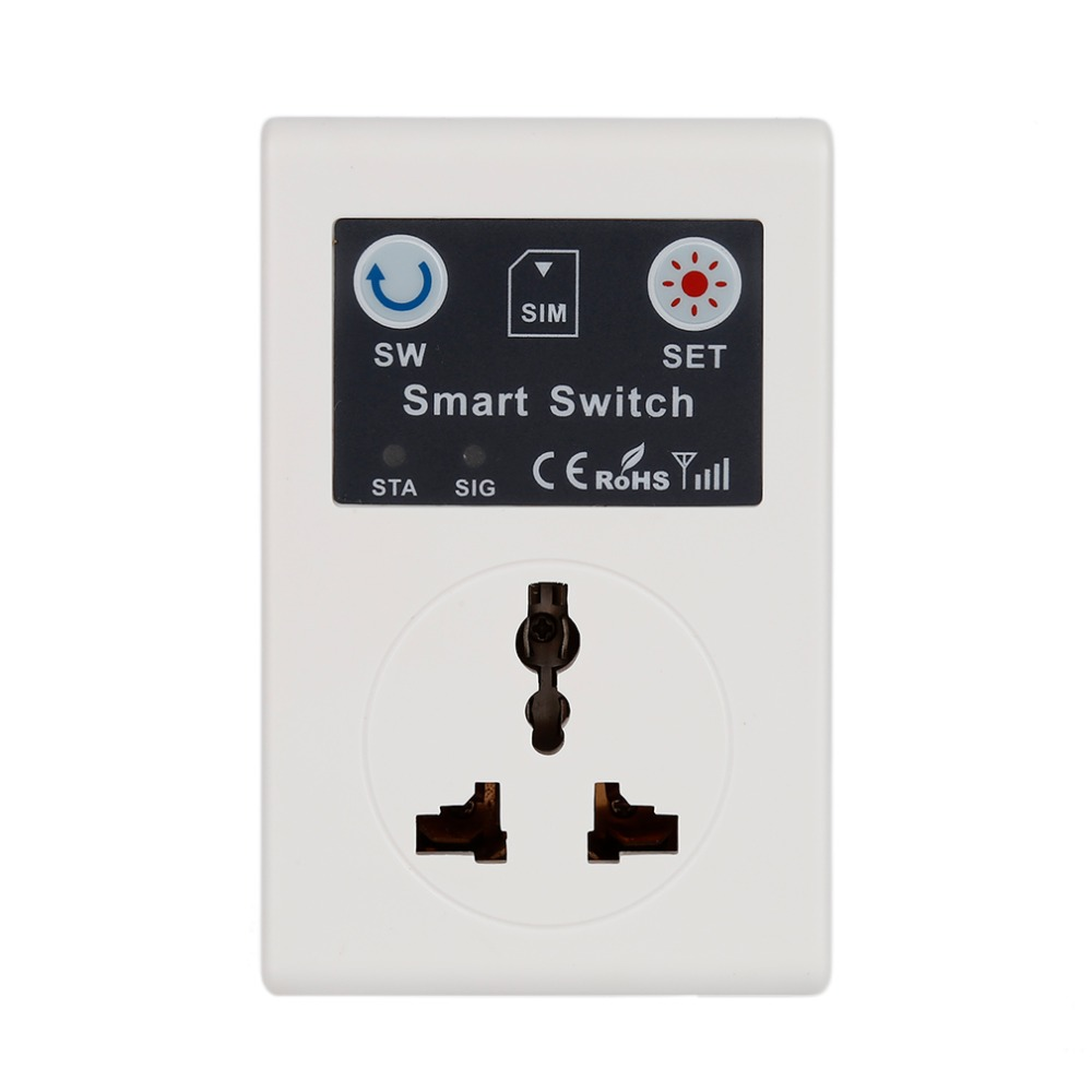 EU 220V Phone RC Remote Wireless Control Smart Switch GSM Socket Power Plug for Home Household Appliance Hot Sale eu 220v phone rc remote wireless control smart switch gsm socket power plug for home household appliance 2017 top sale drop ship