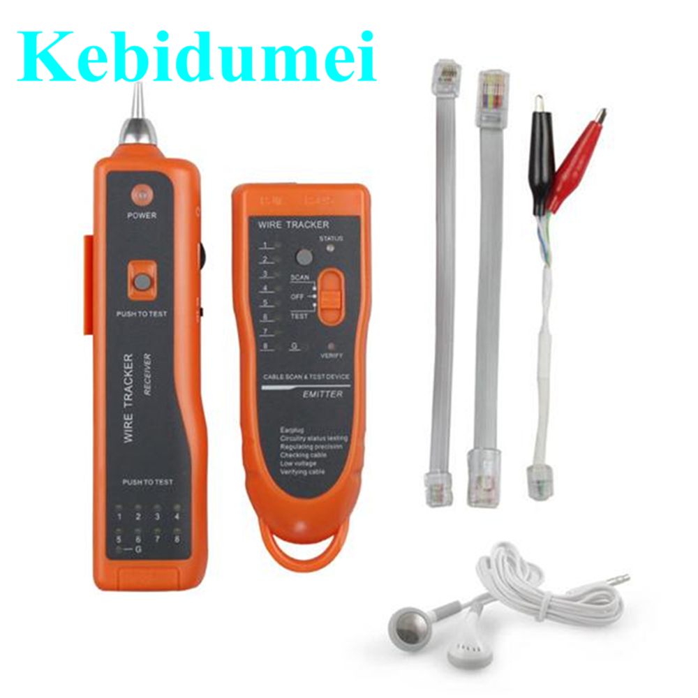 small resolution of kebidumei network ethernet tester utp stp rj45 rj11 cat5 cat6 lan cable wire telephone line scanning detector tracker tool new