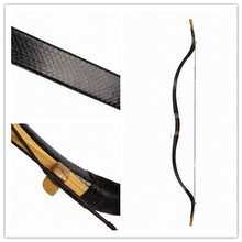 Longbowmaker Traditional Smooth Black snakeskin exquisite Longbow 20-60LBS Mongolian Bow QHBL