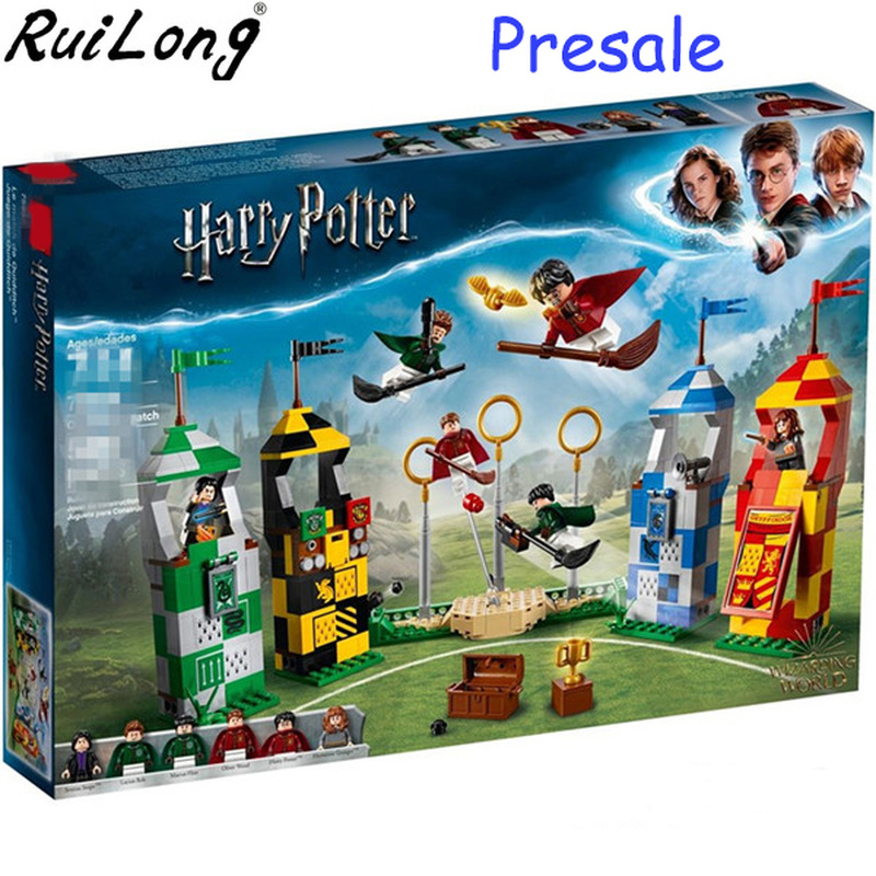 New Harry Potter Movie Quidditch Match Compatible With Legoings Harry Potter 75956 Building Bricks Blocks Toys Children Gifts