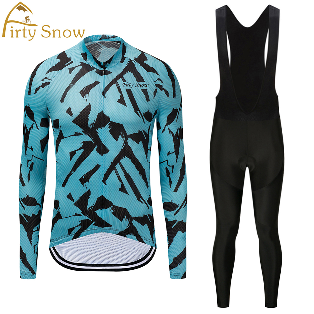 Firty sonw 2018 Spring/Autumn Team Long Sleeve Cycling Jersey Bib Set Quick Dry Outdoor Sport Coat Clothing with 9D Gel брюки  джинсы и штанишки maru maru штанишки 115164002