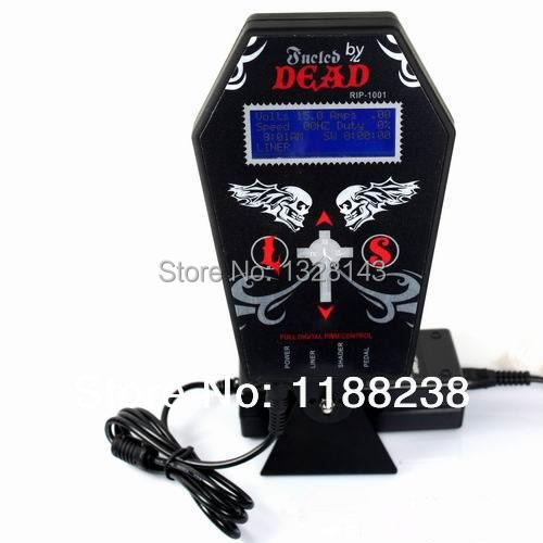 Tattoo Power Supply Metal material Digital LCD Dual Input Power Supply PS-3 Dead Brand Ghost-shaped  for tattoo machine