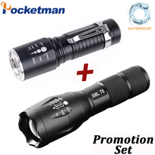 T6 Flashlight 10000 Lumens 5 Modes Portable Lamp waterproof Torch 18650/AAA Battery Charger