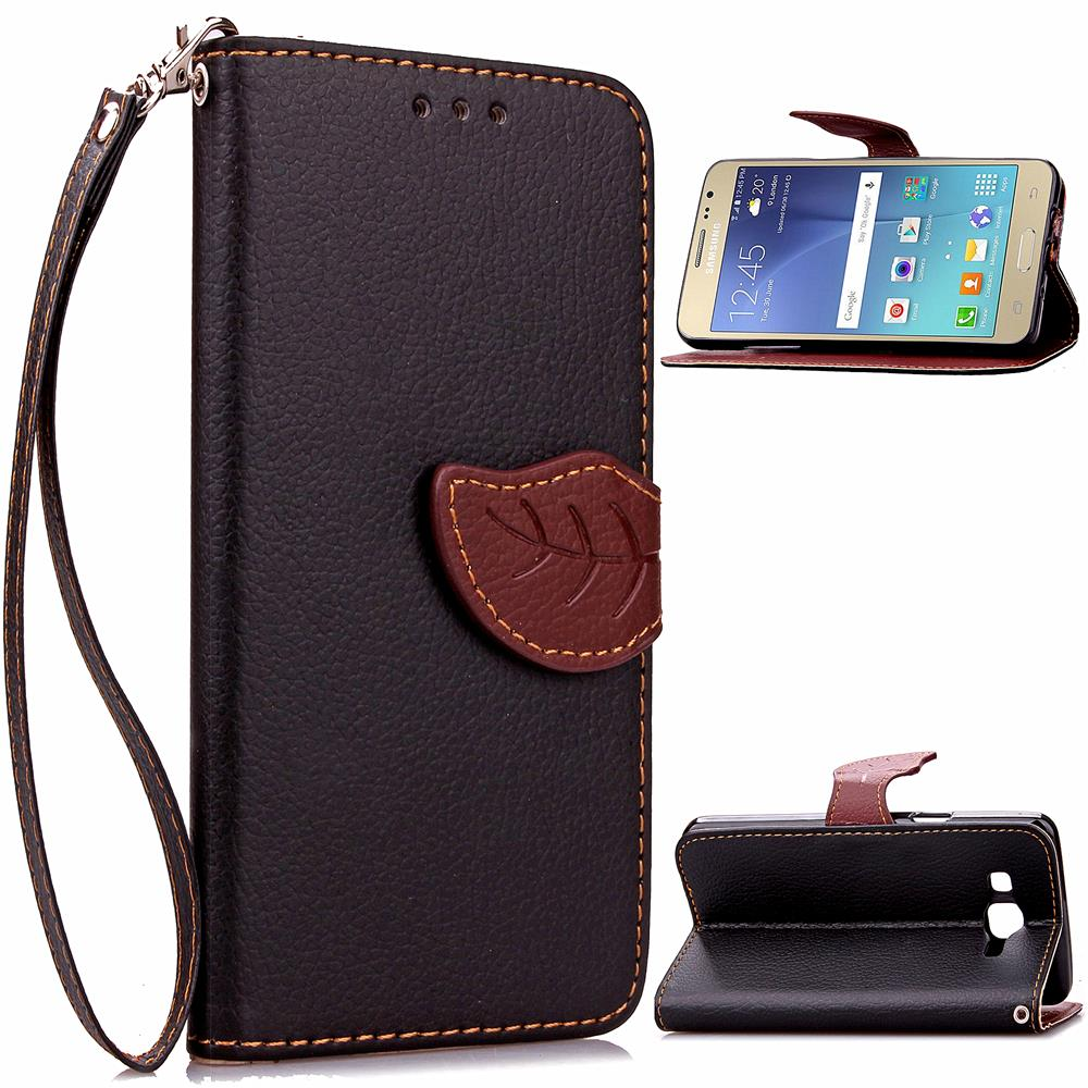 For Samsung J2 Leather Case Leaf Buckle Litchi Leather Wallet Phone Case for Samsung Galaxy J2 J200 - FREE SHIPPING