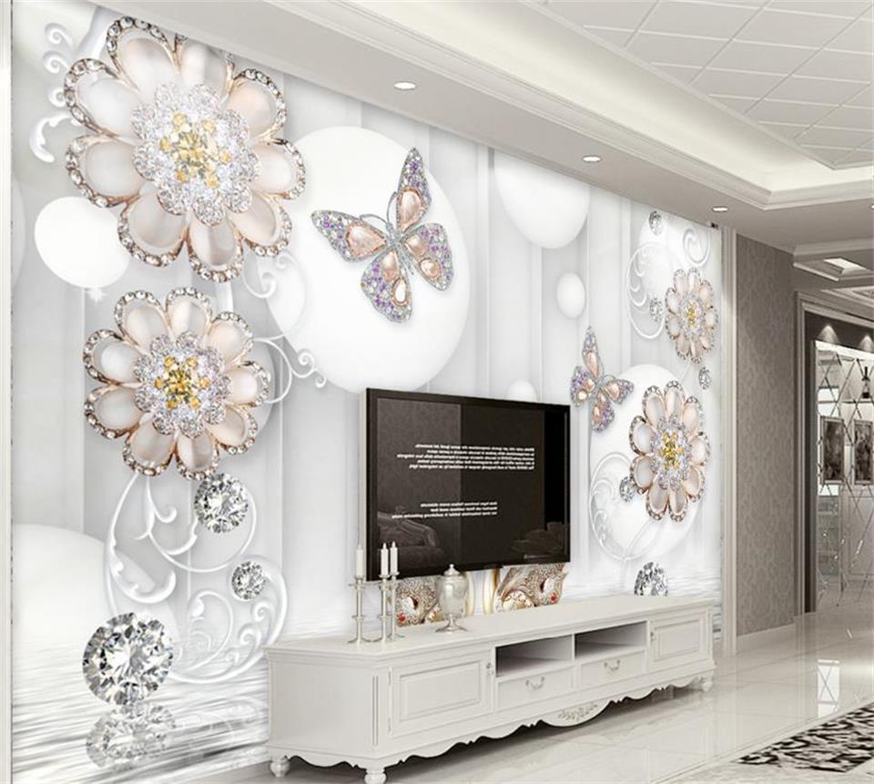 3d wallpaper photo wallpaper custom living room mural butterfly ...