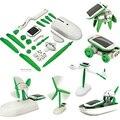 Nuevo 1 Unidades 6-en-1 Kit Solar Educativo de DIY Juguete Barco Fan Poder Mudanza Perro Robot Coche Solar Juguetes Educativos de Montaje juguete