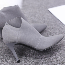 Pointed toe high-heeled women's boots