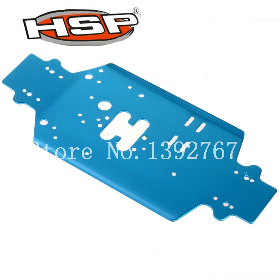 HSP RC Parts 86001 Aluminum Chassis (Al.) For 1/16 Scale Hobby Car 4WD Nitro Power Off Road Buggy Truck Truggy 02023 clutch bell double gears 19t 24t for rc hsp 1 10th 4wd on road off road car truck silver