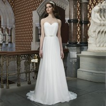 AAS041 Cheap High Quality Elegant Sweetheart Wedding Gowns A Line Summer Dresses Beach Summer Chiffon Wedding Dresses 2015