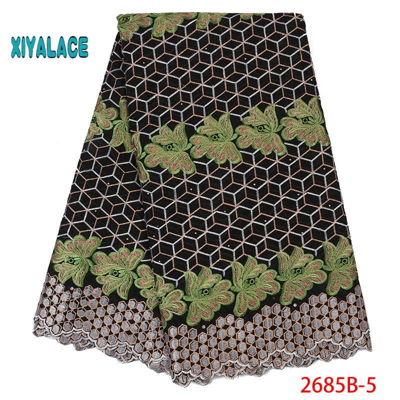 Swiss Voile Lace Fabric Best Selling African Dresses 2019 High Quality Lace For Wedding Lace Cotton Lace Party Dress YA2685B-5