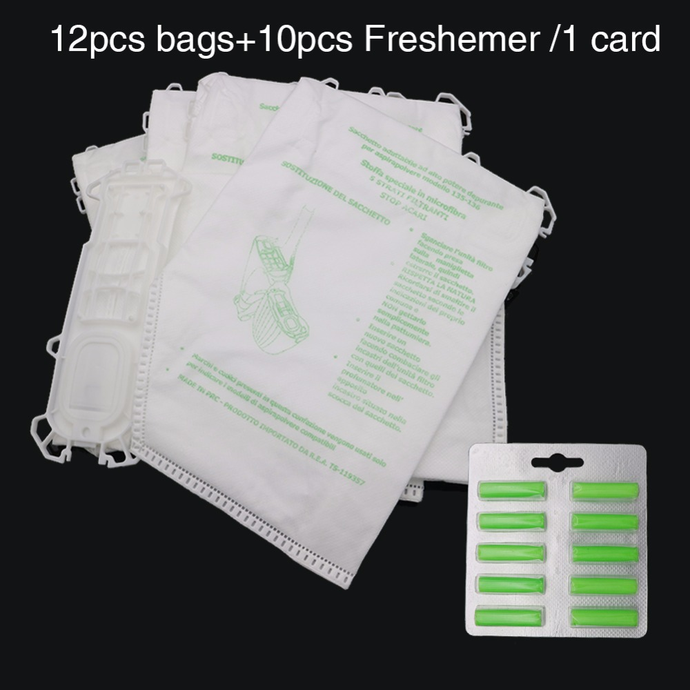 12pcs bag+10pcs/card Freshener Vacuum Cleaner Accessories Dust Bag for Vorwerk VK135 VK136 FP135 FP136 Kobold135 Kobold136 VK369 12 pcs lot vacuum cleaner bags dust bag for vorwerk vk135 vk136 fp135 fp136 kobold135 kobold136 vk369