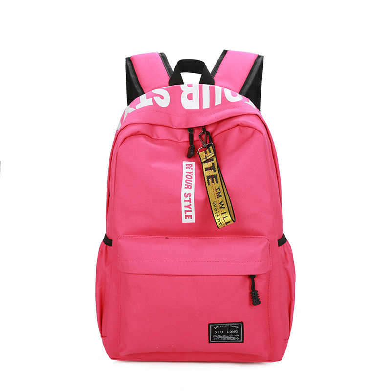 4c75883034 ... Brand High Quality Canvas Backpack Strong Large capacity Travel bag Men  Preppy School bag for Girls ...