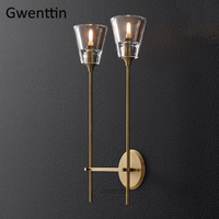 Luxury Crystal Wall Lamps Led Mirror Lights Modern Gold Wall Sconce Light Fixtures Living Room Bedroom Bathroom Lamp Home Decor