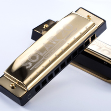 10 Holes Diatonic Harmonica Blues Harp 20 Tone Mouth Organ Instrumentos Key Of C Brass Reeds Musical Instruments KongSheng Solar