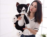 about 40cm japan cartoon cat plush toy lovely black cat soft doll kid's toy birthday gift b0708