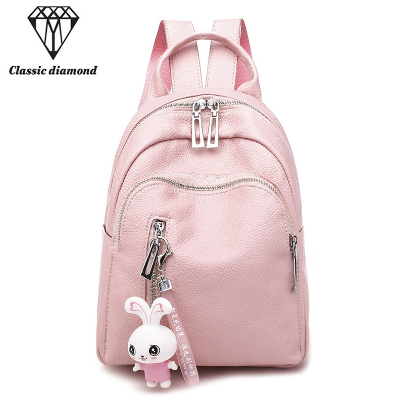 9bd25780245 Detail Feedback Questions about Fashion Pink Leather Mini Backpacks for  Women 2018 School Bags for Teenage Girls Cute Small Backpack Can Be Gift  for ...