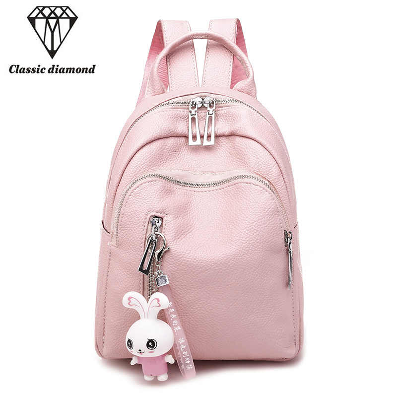 Fashion Pink Leather Mini Backpacks for Women 2018 School Bags for Teenage  Girls Cute Small Backpack 9e56a08a721c4