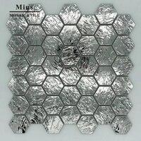 3D Hexagonal Stainless Steel Mosaic Metal Tile