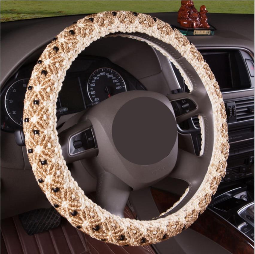 High quality steering wheel sleeve For Skoda Yeti Octavia Superb Fabia Car Accessories